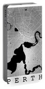 Perth Street Map - Perth Australia Road Map Art On Colored Backg Portable Battery Charger