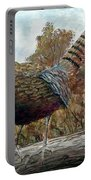 Pheasant On Fence Portable Battery Charger