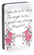 Philippians 4 13 Portable Battery Charger