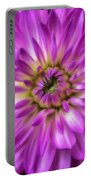 Pink Dahlia Close Up Portable Battery Charger