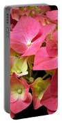 Pink Hydrangea Flowers Portable Battery Charger