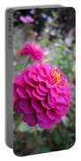 Pink Zinnias Portable Battery Charger