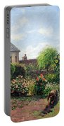 Pissarro's The Artist's Garden At Eragny Portable Battery Charger by Cora Wandel