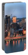 Pittsburgh At Dusk Portable Battery Charger