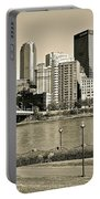 Pittsburgh In Sepia Portable Battery Charger