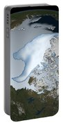 Planet Earth Showing Sea Ice Coverage Portable Battery Charger