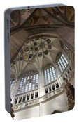 pointed vault of Saint Barbara church Portable Battery Charger