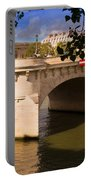 Pont Neuf Over The Seine River Paris Portable Battery Charger