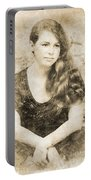 Portrait Of A Vintage Lady Portable Battery Charger