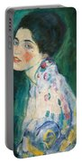 Portrait Of A Young Woman Portable Battery Charger by Gustav Klimt