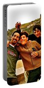 Portuguese Teens Wish A Happy New Year In Nazarre-portugal  Portable Battery Charger