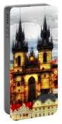 Prague Church Of Our Lady Before Tyn Portable Battery Charger