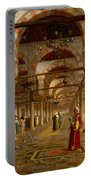 Prayer In The Mosque Portable Battery Charger