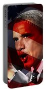 President Barack Obama Portable Battery Charger by Marvin Blaine