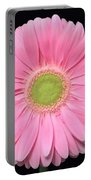 Pretty Pink Gerbera Daisy Portable Battery Charger