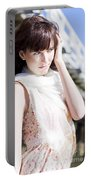 Pretty Young Fashion Model Portable Battery Charger