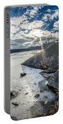 Price Lake Frozen Over During Winter Months In North Carolina Portable Battery Charger
