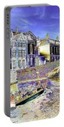 Psychedelic Bruges Canal Scene Portable Battery Charger