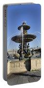 Public Fountain At The Place De La Concorde In Paris France Portable Battery Charger