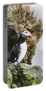 Puffins On The Islet Of Mykines, Faroe Portable Battery Charger