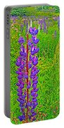 Purple Lupine On Campobello Island-nb Portable Battery Charger