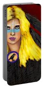 Raven Yellow Hair Portable Battery Charger