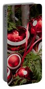 Red Christmas Balls Portable Battery Charger