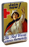 Red Cross Poster, C1917 Portable Battery Charger