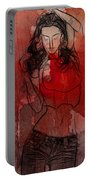 Red Is The Color Of Love Portable Battery Charger