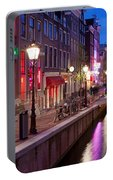Red Light District In Amsterdam Portable Battery Charger