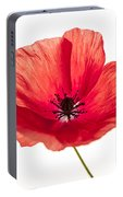 Red Poppy Flower Portable Battery Charger