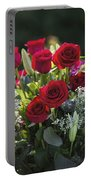 Red Rose Romance Portable Battery Charger