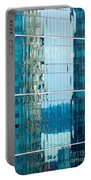 Reflections In Modern Glass-walled Building Facade Portable Battery Charger