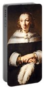 Rembrandt's Portrait Of A Lady With An Ostrich Feather Fan Portable Battery Charger