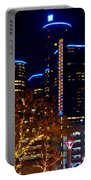 ren Cen at Night Portable Battery Charger