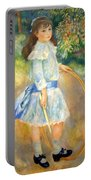 Renoir's Girl With A Hoop Portable Battery Charger