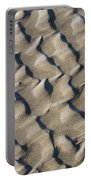 Ripple Pattern On Mudflat At Low Tide Portable Battery Charger