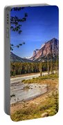 River And Mountains In Jasper Portable Battery Charger