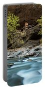 River Flowing Through Rocks, Zion Portable Battery Charger