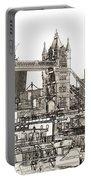 River Thames Sketch Portable Battery Charger