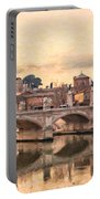 River Tiber In Rome Portable Battery Charger