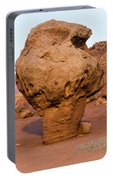 Rock Formations In A Desert, Vermilion Portable Battery Charger