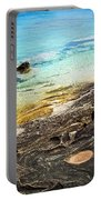 Rocks And Clear Water Abstract Portable Battery Charger