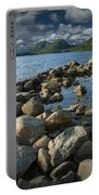 Rocky Shoreline In Acadia National Park Portable Battery Charger
