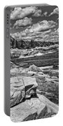 Rocky Summer Seascape Acadia National Park Photograph Portable Battery Charger