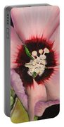 Rose Of Sharon Portable Battery Charger by Karen Beasley