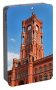 Rotes Rathaus The Town Hall Of Berlin Germany Portable Battery Charger