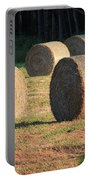 Round Hay Bales Portable Battery Charger