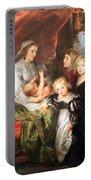 Rubens' Deborah Kip -- Wife Of Sir Balthasar Gerbier -- And Her Children Portable Battery Charger