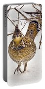 Ruffed Grouse Walking On Snow - Horizontal Portable Battery Charger
